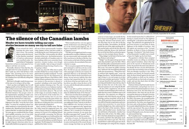 Article Preview: The silence of the Canadian lambs, MAR. 23rd 2009 2009 | Maclean's