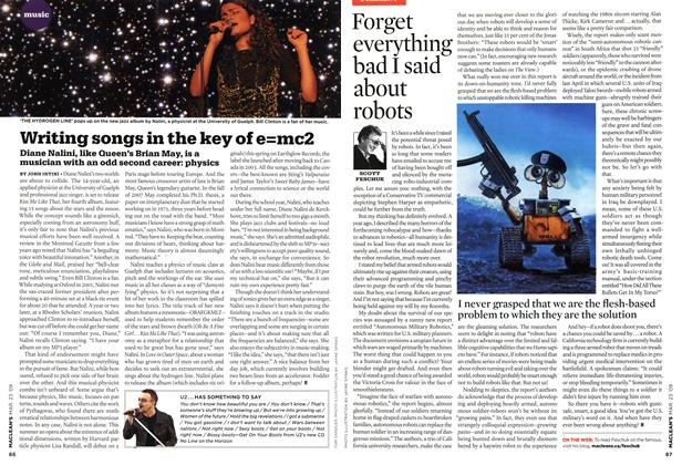 Article Preview: Forget everything bad I said about robots, MAR. 23rd 2009 2009 | Maclean's