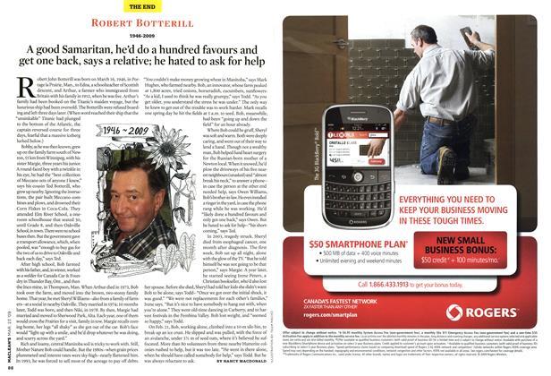 Article Preview: ROBERT BOTTERILL 1946-2009, MAR. 23rd 2009 2009   Maclean's