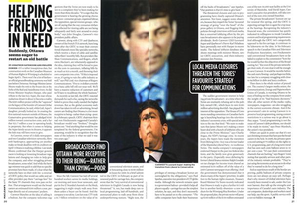 Article Preview: HELPING FRIENDS IN NEED, APR. 6th 2009 2009 | Maclean's