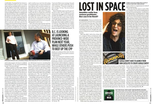 Article Preview: LOST IN SPACE, APR. 6th 2009 2009 | Maclean's