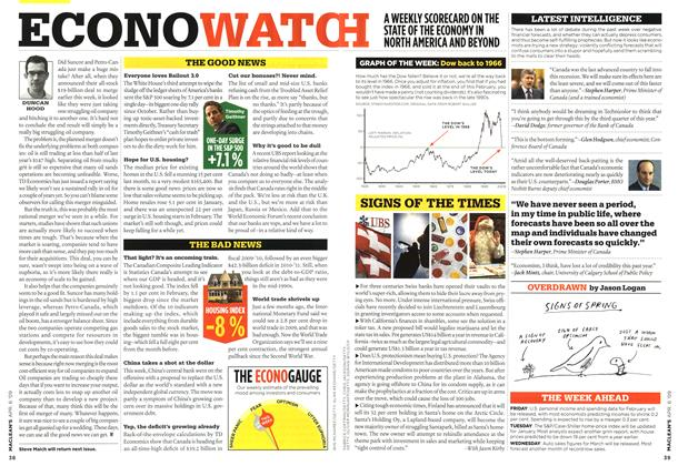 Article Preview: ECONOWATCH, APR. 6th 2009 2009 | Maclean's