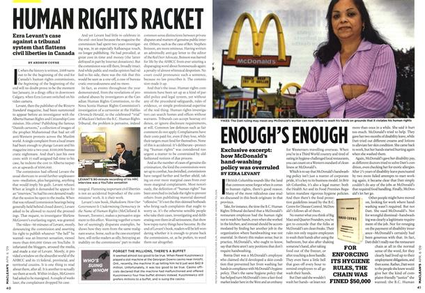 Article Preview: HUMAN RIGHTS RACKET, APR. 6th 2009 2009 | Maclean's