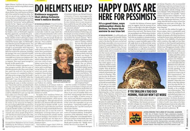 Article Preview: DO HELMETS HELP?, APR. 6th 2009 2009 | Maclean's