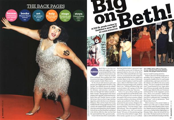 Article Preview: Big on Beth!, APR. 6th 2009 2009 | Maclean's