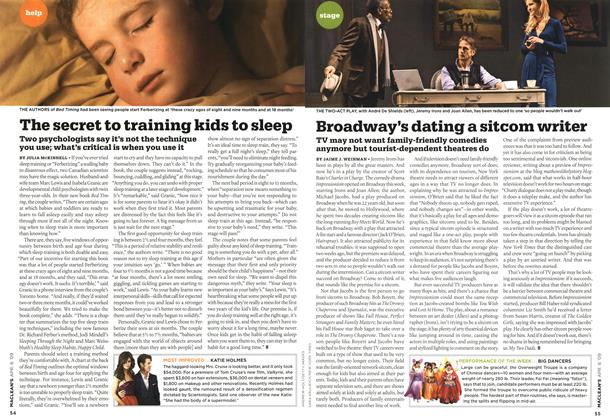 Article Preview: The secret to training kids to sleep, APR. 6th 2009 2009 | Maclean's