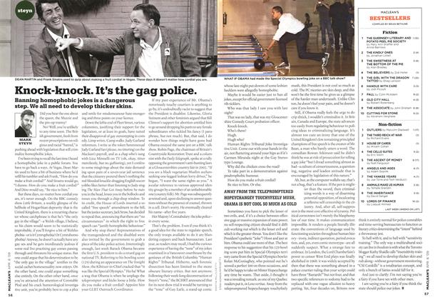 Article Preview: Knock-knock. It's the gag police., APR. 6th 2009 2009 | Maclean's