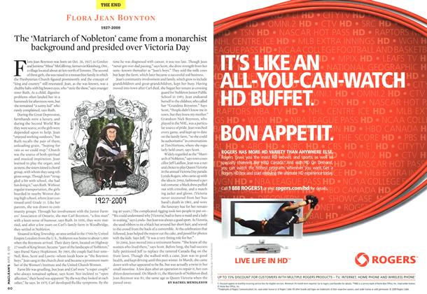 Article Preview: FLORA JEAN BOYNTON 1927-2009, APR. 6th 2009 2009 | Maclean's