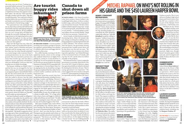 Article Preview: Canada to shut down all prison farms, April 2009 | Maclean's