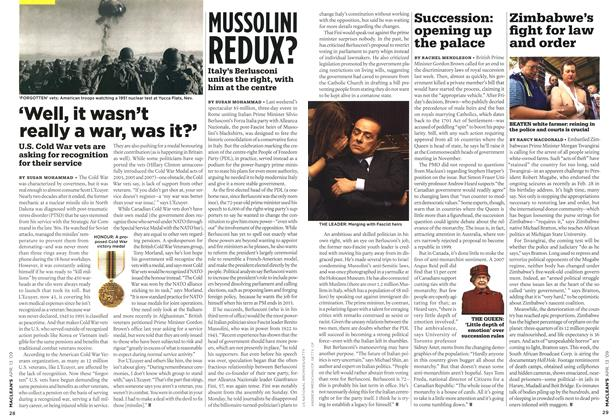 Article Preview: MUSSOLINI REDUX?, April 2009 | Maclean's