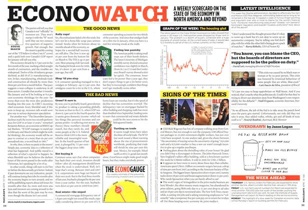 Article Preview: ECONO WATCH, April 2009 | Maclean's