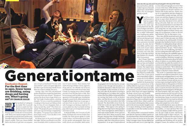 Article Preview: Generation tame, April 2009 | Maclean's