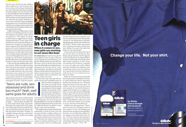 Article Preview: Teen girls in charge, April 2009 | Maclean's