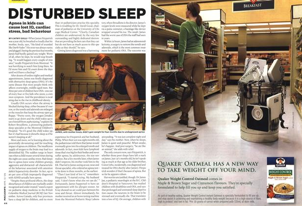 Article Preview: DISTURBED SLEEP, April 2009 | Maclean's