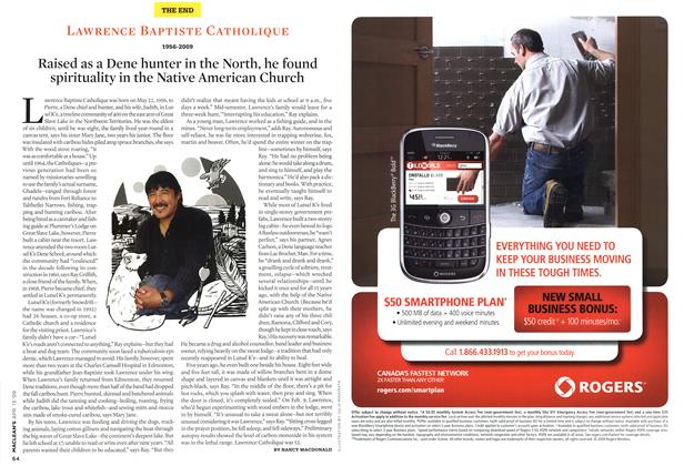 Article Preview: LAWRENCE BAPTISTE CATHOLIQUE 1956-2009, April 2009 | Maclean's