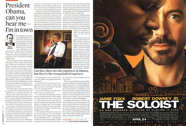 Article Preview: President Obama, can you hear me—| I'm in town, April 2009 | Maclean's