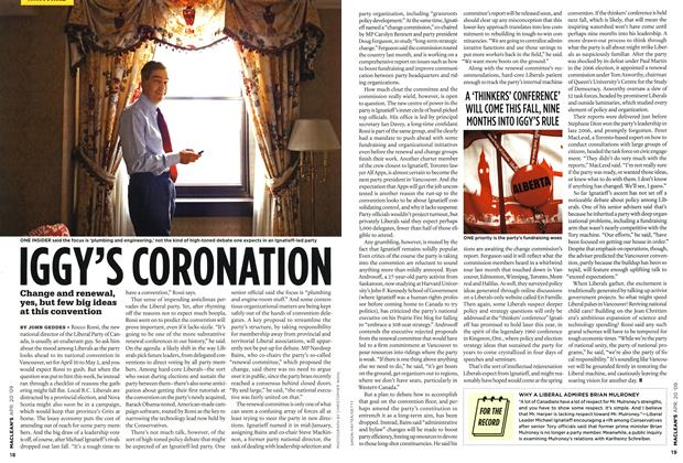 Article Preview: IGGY'S CORONATION, APR. 20th 2009 2009 | Maclean's