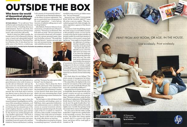 Article Preview: OUTSIDE THE BOX, APR. 20th 2009 2009 | Maclean's