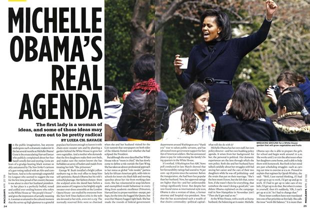 Article Preview: MICHELLE OBAMA'S REAL AGENDA, APR. 20th 2009 2009 | Maclean's
