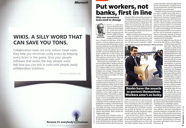 Article Preview: Put workers, not banks, first in line, APR. 20th 2009 2009 | Maclean's