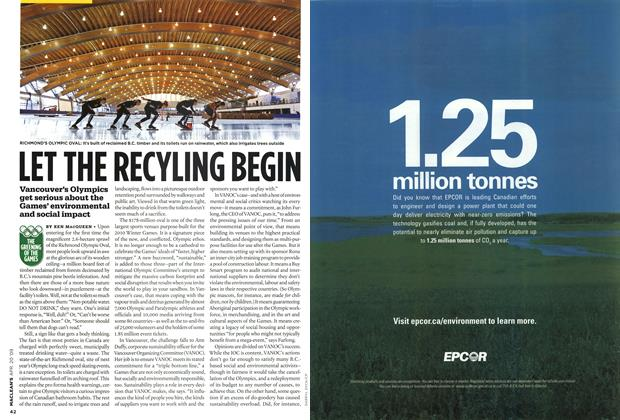 Article Preview: LET THE RECYLING BEGIN, APR. 20th 2009 2009 | Maclean's