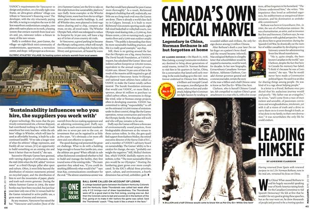 Article Preview: LEADING HIMSELF, APR. 20th 2009 2009 | Maclean's