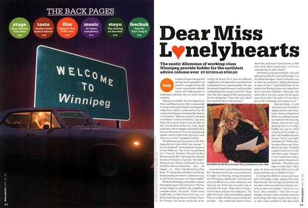 Article Preview: Dear Miss L♥nelyhearts, APR. 20th 2009 2009 | Maclean's