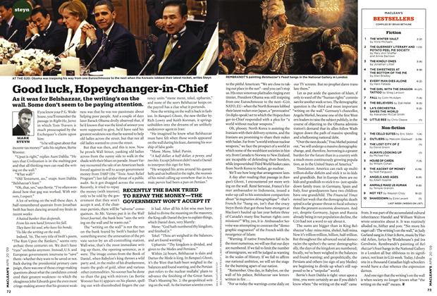 Article Preview: Good luck, Hopeychanger-in-Chief, APR. 20th 2009 2009 | Maclean's