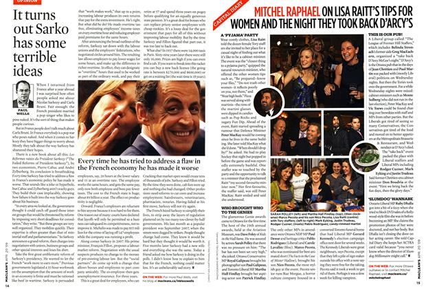 Article Preview: It turns out Sarko has some terrible ideas, APR. 20th 2009 2009   Maclean's