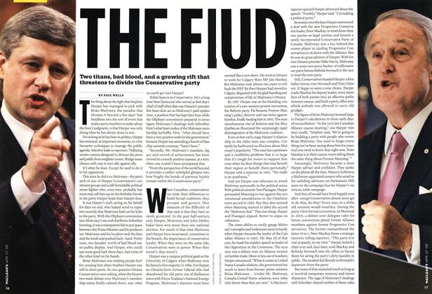 Article Preview: THE FEUD, APR. 27th 2009 2009 | Maclean's