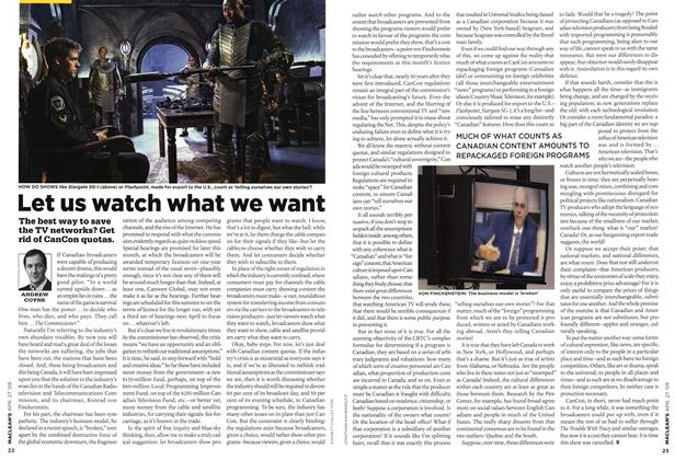Article Preview: Let us watch what we want, APR. 27th 2009 2009 | Maclean's