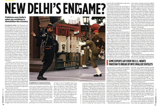 Article Preview: NEW DELHI'S END GAME?, APR. 27th 2009 2009 | Maclean's
