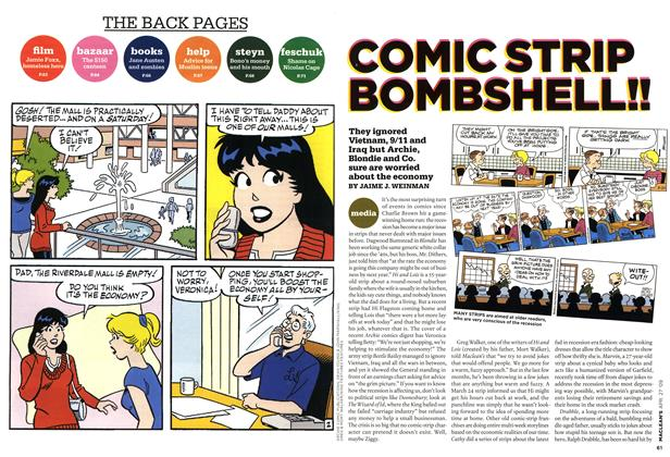 Article Preview: COMIC STRIP BOMBSHELL!!, APR. 27th 2009 2009 | Maclean's