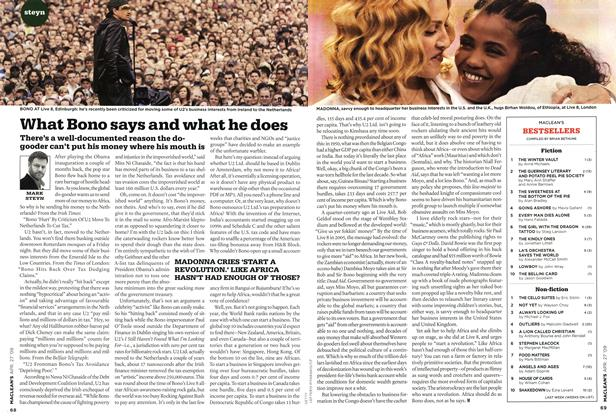 Article Preview: What Bono says and what he does, APR. 27th 2009 2009 | Maclean's