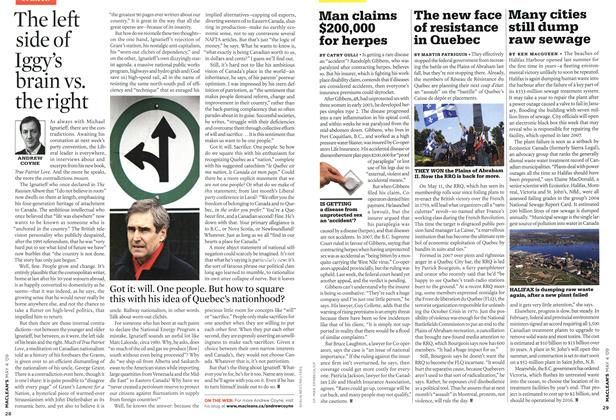 Article Preview: The new face of resistance in Quebec, MAY 4th 2009 2009 | Maclean's