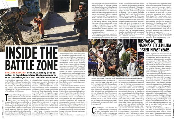 Article Preview: INSIDE THE BATTLE ZONE, MAY 4th 2009 2009 | Maclean's