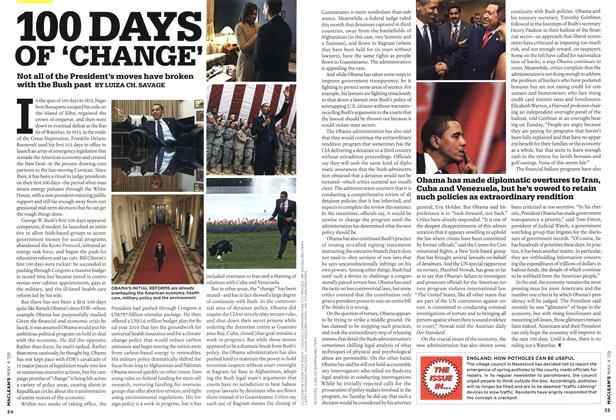 Article Preview: 100 DAYS OF 'CHANGE', MAY 4th 2009 2009 | Maclean's