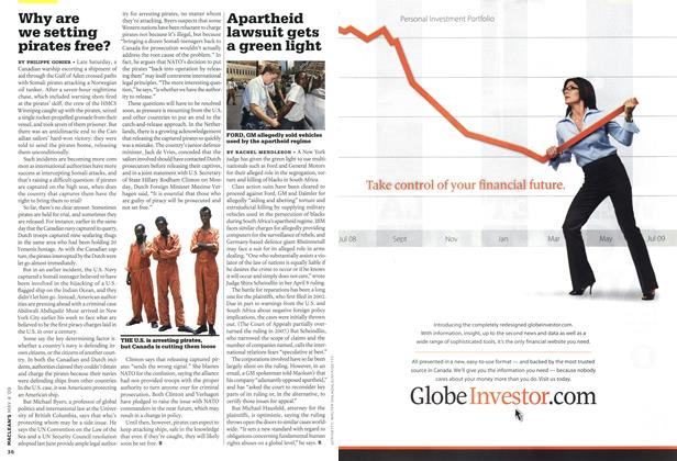 Article Preview: Apartheid lawsuit gets a green light, MAY 4th 2009 2009 | Maclean's