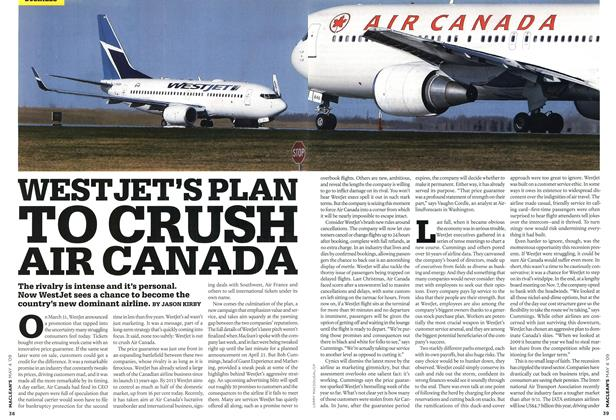 Article Preview: WEST JET'S PLAN TO CRUSH AIR CANADA, MAY 4th 2009 2009 | Maclean's