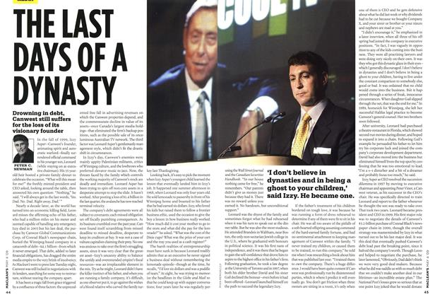 Article Preview: THE LAST DAYS OF A DYNASTY, MAY 4th 2009 2009 | Maclean's