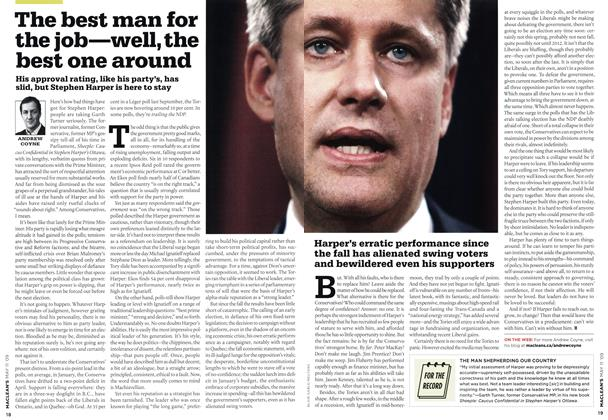 Article Preview: The best man for the job—well, the best one around, MAY 11th 2009 2009 | Maclean's