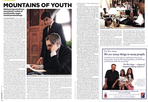 Article Preview: MOUNTAINS OF YOUTH, MAY 11th 2009 2009 | Maclean's