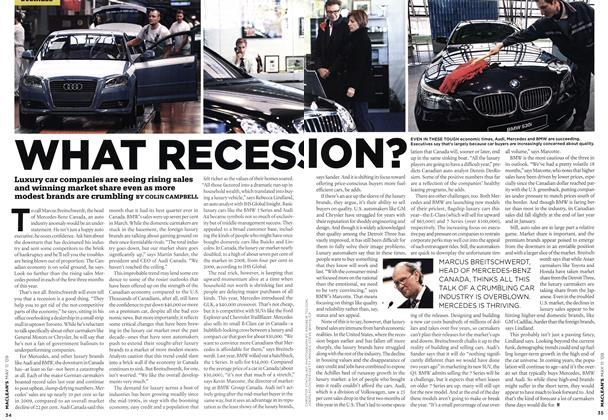 Article Preview: WHAT RECESSION?, MAY 11th 2009 2009 | Maclean's