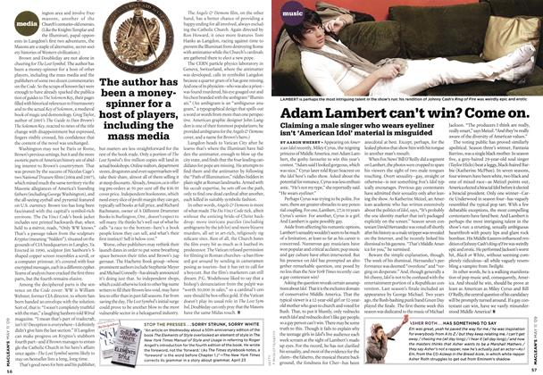 Article Preview: Adam Lambert can't win? Come on., MAY 11th 2009 2009 | Maclean's