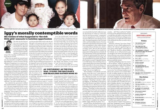 Article Preview: Iggy's morally contemptible words, MAY 11th 2009 2009 | Maclean's