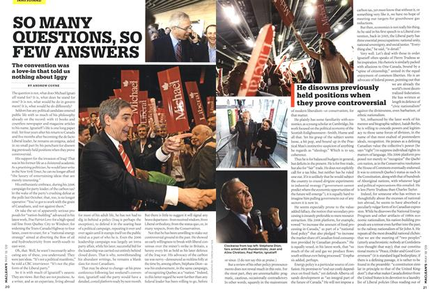 Article Preview: SO MANY QUESTIONS, SO FEW ANSWERS, MAY 18th 2009 2009   Maclean's