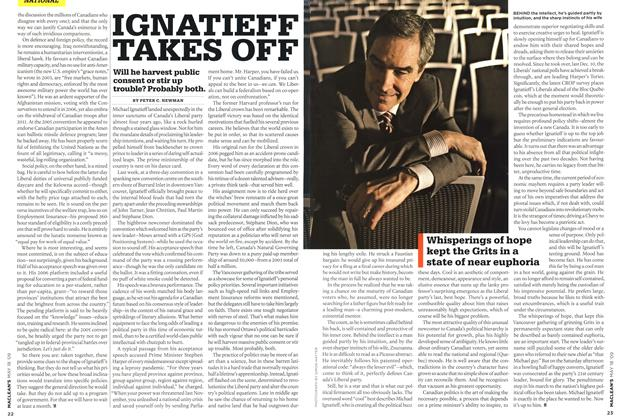Article Preview: IGNATIEFF TAKES OFF, MAY 18th 2009 2009 | Maclean's