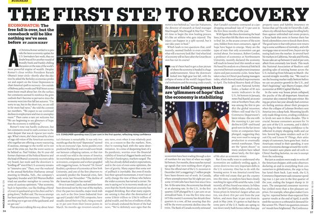 Article Preview: THE FIRST STE TO RECOVERY, MAY 18th 2009 2009 | Maclean's