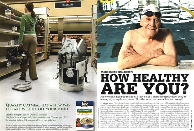 Article Preview: HOW HEALTHY ARE YOU?, MAY 18th 2009 2009 | Maclean's