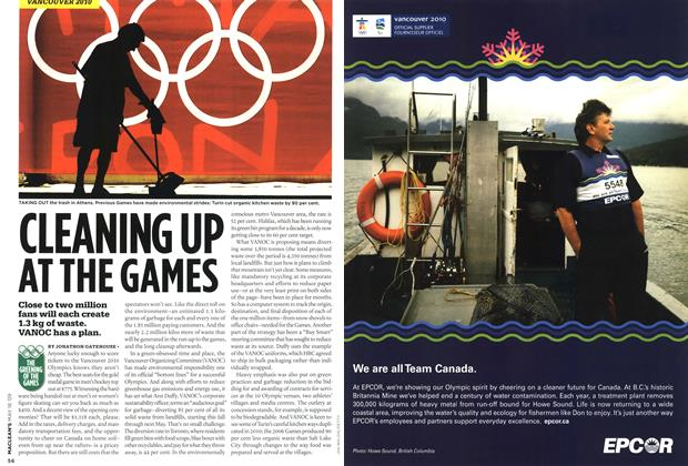 Article Preview: CLEANING UP AT THE GAMES, MAY 18th 2009 2009 | Maclean's